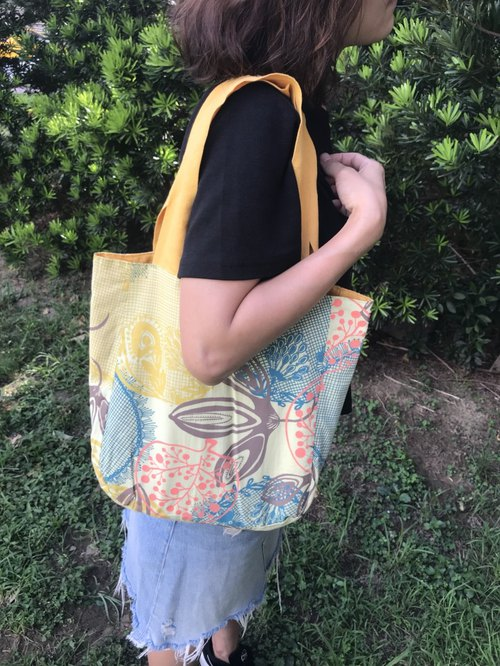 Lucca double-sided soft cloth bag