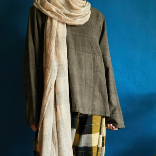 natural dyed soft wool scarf | mist |  fair trade