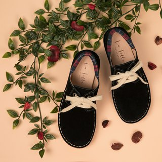 Japanese sweet suede big shoes _ classic black