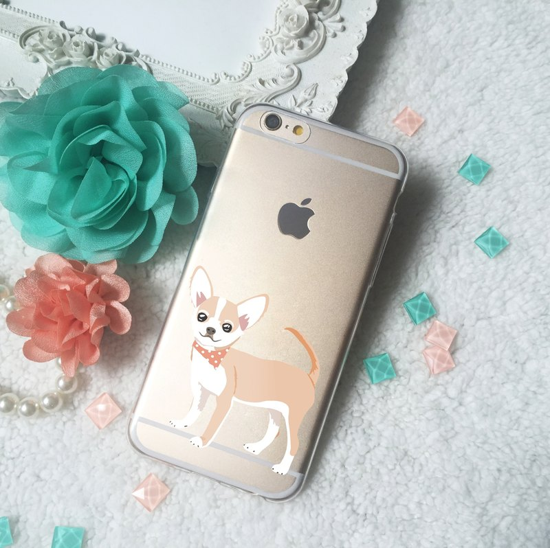 Chiwawa Chihuahua Puppy Dog Clear TPU Silicone Phone Case iphone X 8 8+ 7 7+ S9