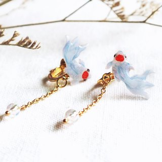 Danding goldfish earrings ear clip