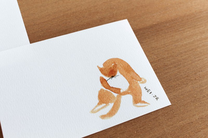 Meow daily small card take a bath in the position of Arbor