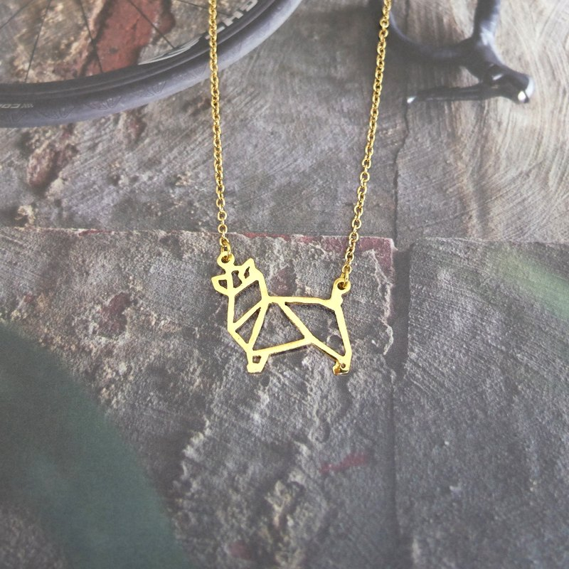 Australian terrier, Origami, Dog Necklace, terrier Jewelry, Dog memorial gifts