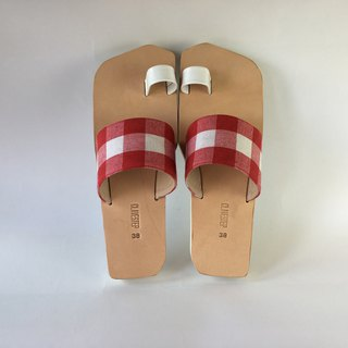 CLAVESTEP I Sandals - Leather Sandals Red/whit