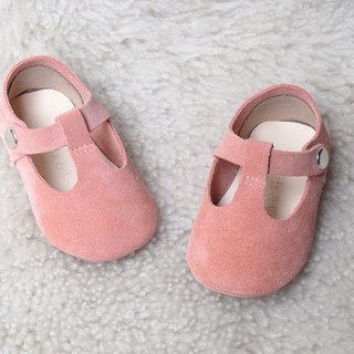 Peach Baby Girl Shoes, Pink Baby Moccasins, Leather Mary Jane, Pink Baby Moccs