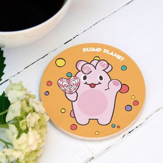【Plump Planet Friends】Ceramic Coasters | Candy Planet