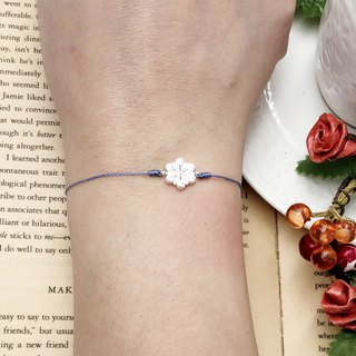 925 sterling silver snowflake full diamond red line bracelet single drill temperament sky blue snowing Christmas