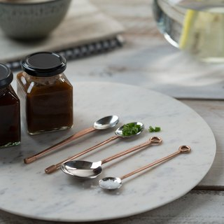 (UK)  4 Copper Condiment Spoons -  The Just Slate Company