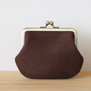Square shape Nubuck dark brown