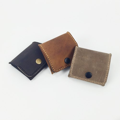 【Special】 retro to do the old rub color change wallet tofu headset package fight color series square three-dimensional opening smile couple models brown brown