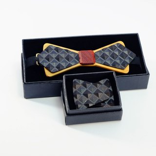 Wooden natural wood tie tie 3D WOOD TIE Millimeter textured black suit group gift box great deals