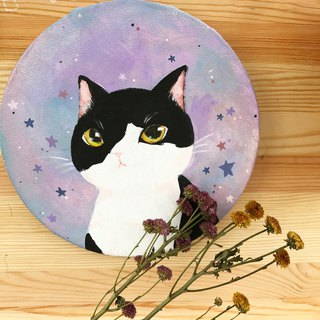 Customized / Small Planet Round Pet Portrait