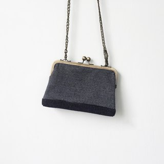 blue small clasp frame bag/with chain/ cosmetic bag / shoulder bag  /