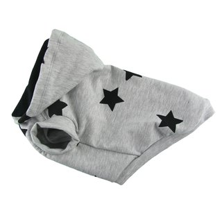 Star Printed Cotton French Terry Dog Top, Dog Hoodie, Dog Apparel