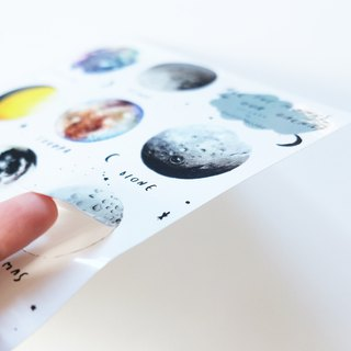 ALL THE MOONS IN OUR GALAXY  -  STICKER