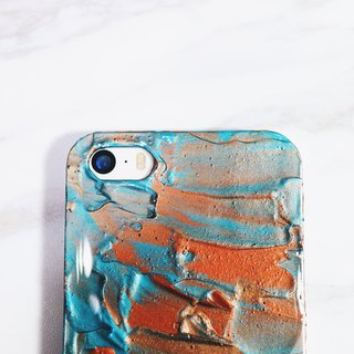 Experimental series ll a touch of earth ll hand-painted oil painting phone case