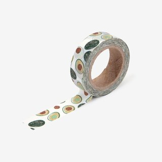 Dailylike single roll of paper tape -104 avocado, E2D03862