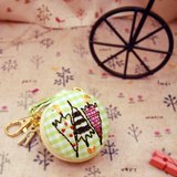 刺繡 ♥3隻雨傘♥ 馬卡龍零錢包 吊飾 鑰匙圈 手作 婚禮小物 耳機收納