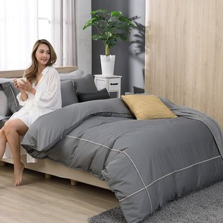 (Increase) two-color embroidery Odin gray - high quality 60 cotton dual-use bed bag four-piece group - 6 * 6.2 feet
