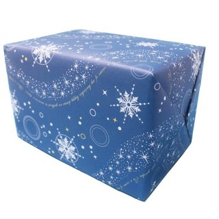 Price increase purchase service simple packaging service basic section - wrapping paper - blue