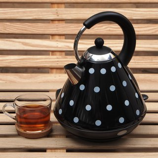 1.7L Cordless Rapdi Boil Electric Warer Kettle -  Big Black Polka