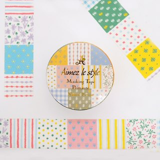 Aimez le style paper tape - natural pattern <A04581>