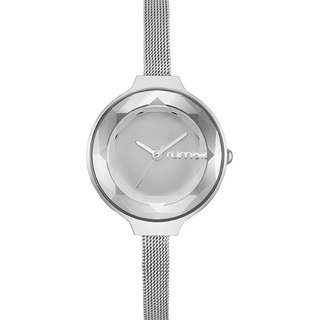 {Rumba Time} New York fashionable watch brand fashion silver Orchard Gem Mesh-