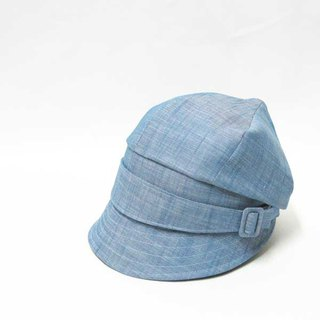 Tenge news Boy cap. It is a unique news boy cap that manipulates the top. PL 1274 - BLUE