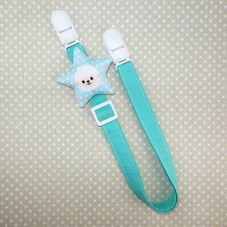 Rabbit Mint Baby sheep star soft pillow toy chain anti-out folder / bibs folder / napkin folder / Universal clip (BBC-L002)