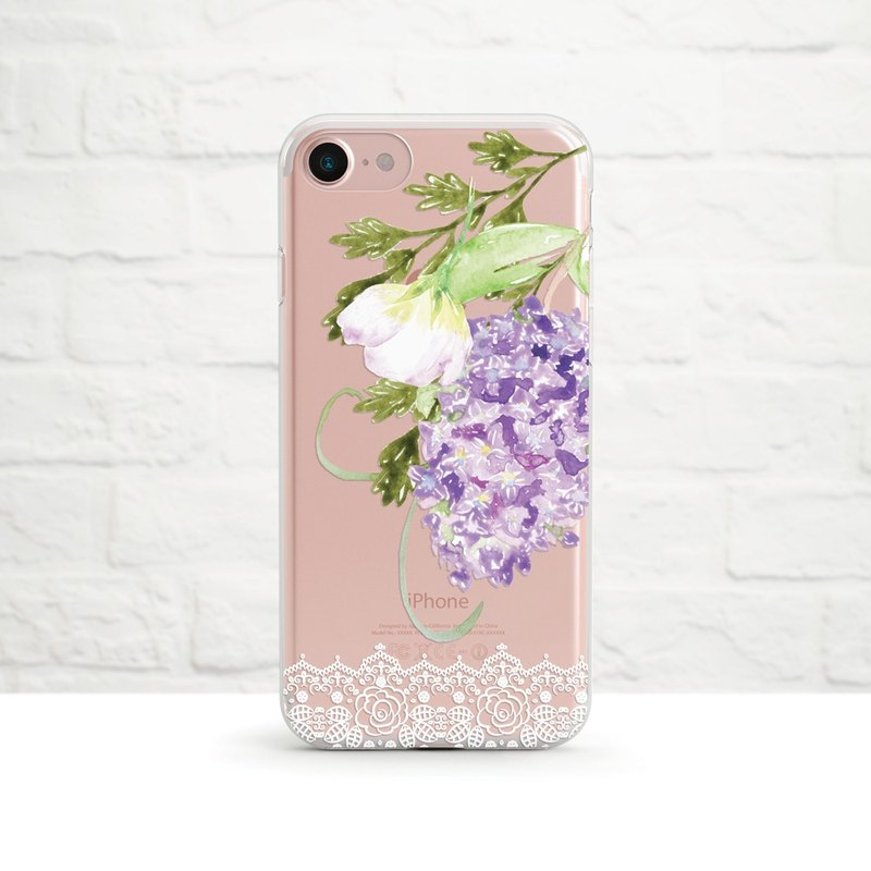 Floral Lace, Clear Soft Case, iPhone 11, Xs Max, Xr to iPhone SE2/5, Samsung