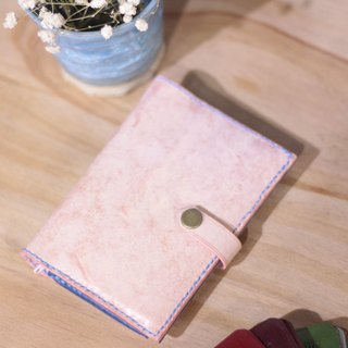 Make Your Choicesss handmade Italian leather cherry pink Travel Passport Case
