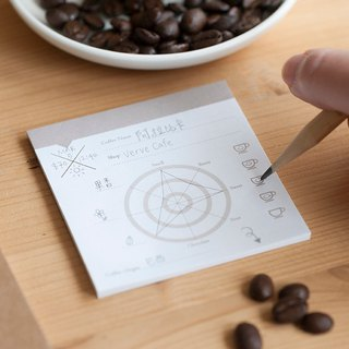 【Popular Sticky Note-Coffee】| Monthly record hobby development|Diary new style barista double-sided record