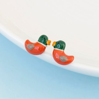 Mandarin Duck Earrings