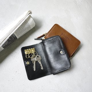 Japan Tochigi aniline vegetable-tanned leather carry soft key purse Made in Japan by CLEDRAN