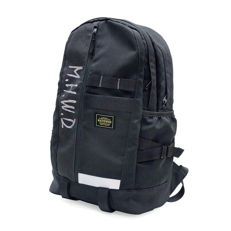 工裝筆電後背包 Matchwood Alpha 筆電後背包 高收納機能黑色款