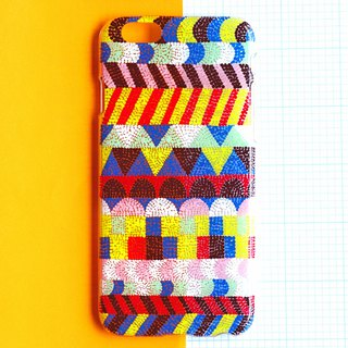 Hand painted case | Scandinavian geometric pattern