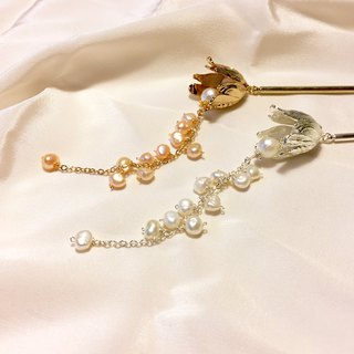 【Lily of the valley】White Pearl Hairpin.