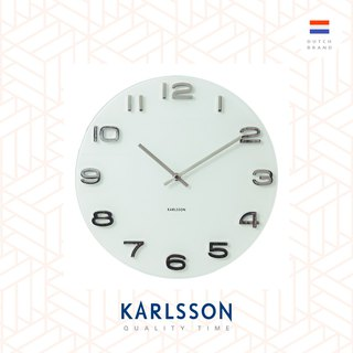 Karlsson, Wall clock Vintage white round glass