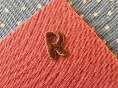 Capital letters R-self-adhesive embroidered cloth stickers