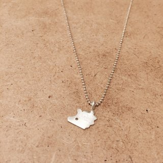 Happy Zoo Sliver Necklace-hedgehog
