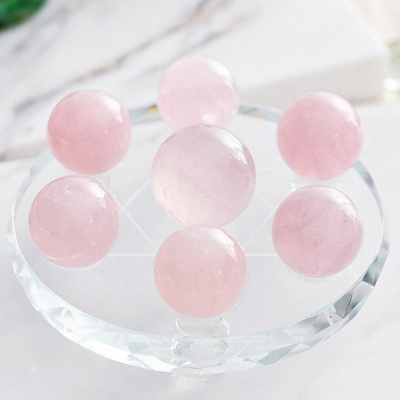 天然粉水晶七星陣10cm(含開光)招桃花、提升爱情運、招貴人