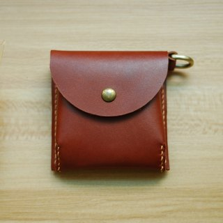 Change small bag leather hand sewing (brown)