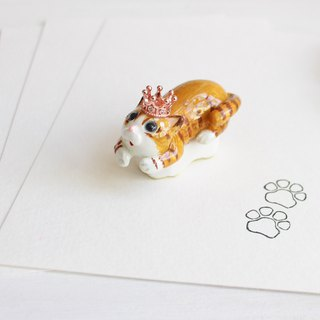 Tiger cat hand carved rubber pair of meat ball seal I hand made JX PearlCatCat joint limited