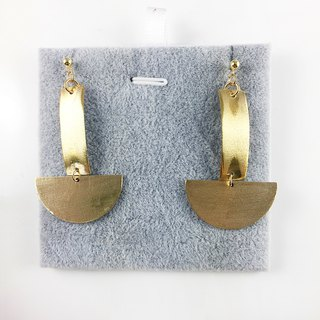 "Brass ""Boat"" 925 Silver Earrings"