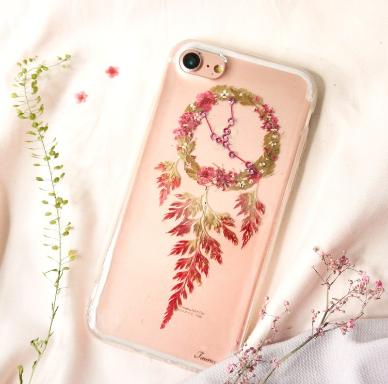 Taurus Pressed Flower Dreamcatcher Phone Case | 12 Zodiac