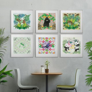 Nutrients Kaleidoscope island of Formosan Endangered Species - Mural (excluding single box)