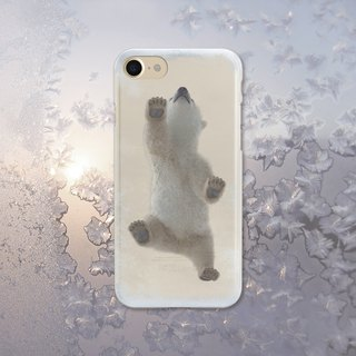 Baby Polar Bear walking on my Frozen iPhone, Samsung