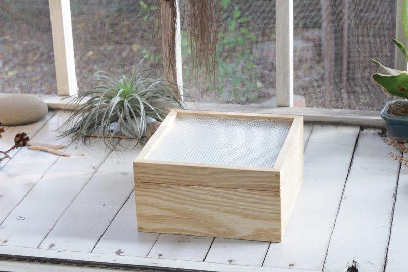 壓花玻璃 木盒/首飾盒/收納盒