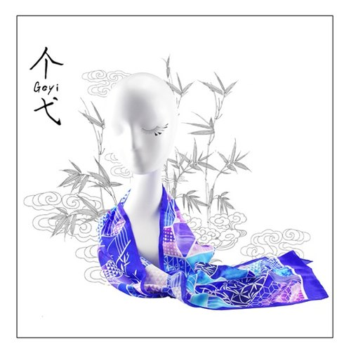 "Yi geyi a long scarf original design ""Bamboo Hall"""