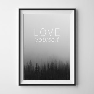 Forest Print customizable posters